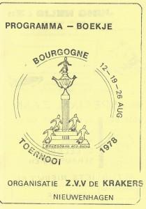 Programma boekje Bourgogne Toernooi 1978