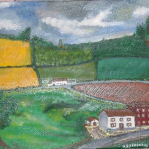 White farm   (Te koop € 25,-)   40x30cm